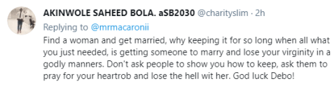 """""""Get Married And Lose Your Virginity In A Godly Way"""" - Fans Tells Mr. Macaroni As He Asks For Help On How To Maintain Being A Virgin"""