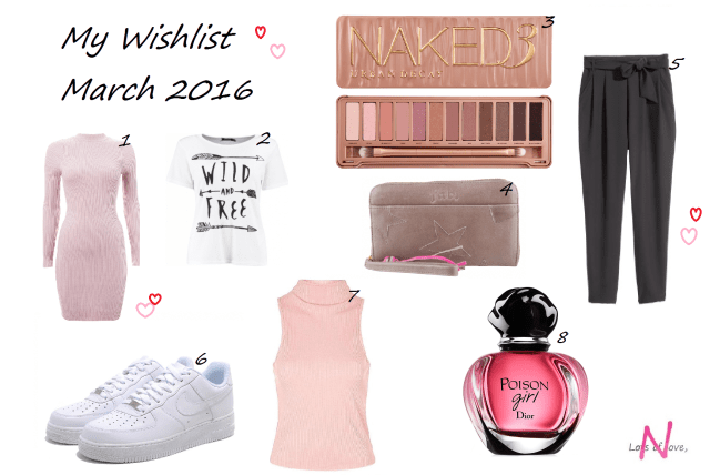 wishlist march 2016