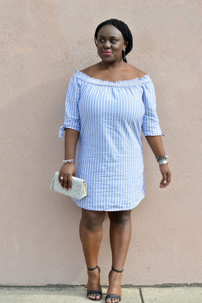 Off-the-shoulder dress OTS