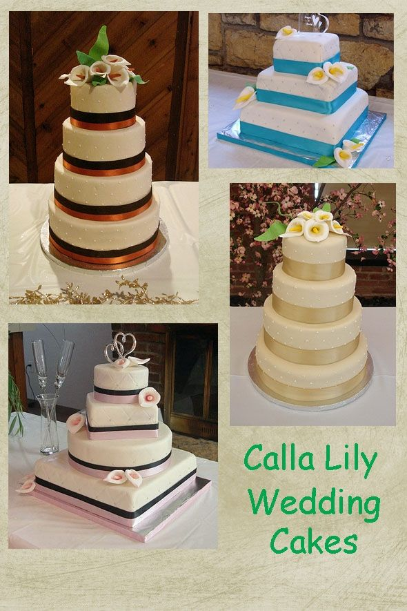 Calla Lily Wedding Cakes   Lots of Wedding Ideas com calla lily wedding cake montage