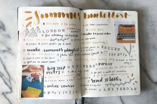 why you should make a summer bucket list