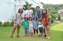 with the kids at San Carlos Borromeo Church