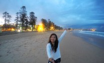 Manly Beach, Too cold! I arrived at Night!