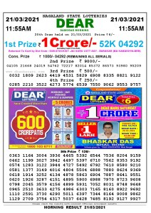 Lottery Sambad 11:55 am 08/03/2021 Morning Sikkim State Lottery Result Pdf DownloadLottery Sambad 11:55 am 21/03/2021 Morning Sikkim State Lottery Result Pdf Download