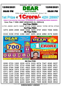 Lottery Sambad Live Result 8pm 12/05/2021 Evening Nagaland State Lottery Result Pdf Download