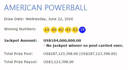 OSA results show you what were the winning Powerball numbers tonight - or any night for that matter!