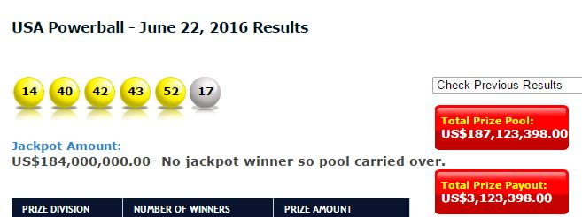 "Ppintl.net is one of the most reliable sources for answering the question ""what were the winning Powerball numbers tonight?"""