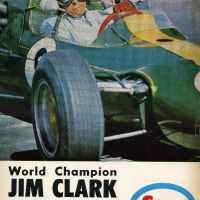 Jim Clark Lotus vintage ESSO ad