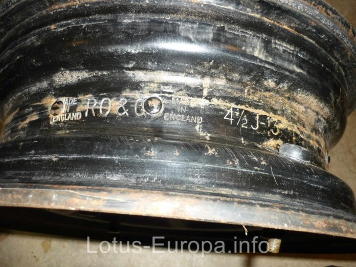 Lotus Europa steel rim