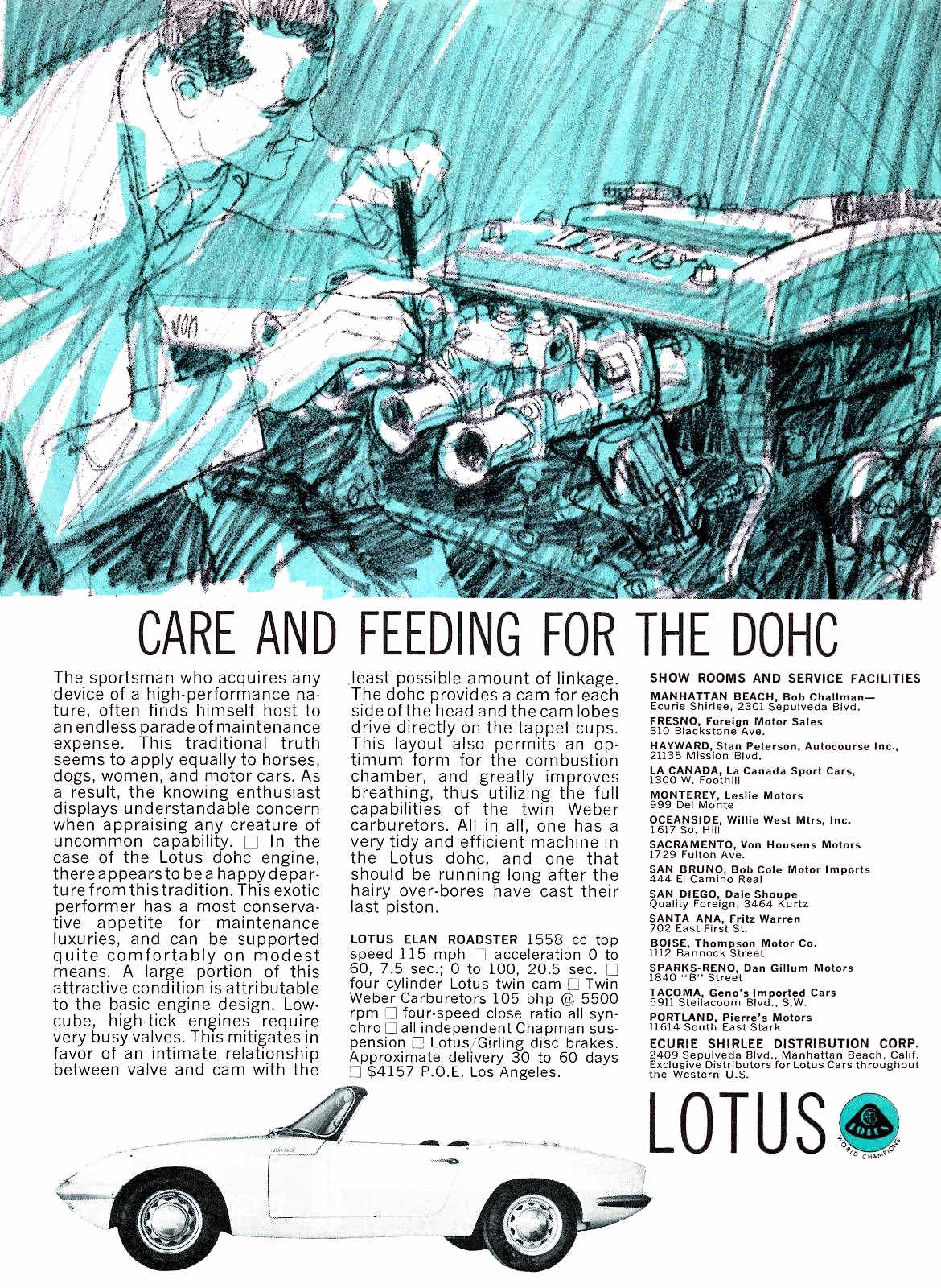 Care and Feeding for the DOHC – Lotus Elan