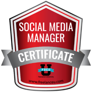 Social Media Manager certification Free U