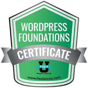 Wordpress Foundations Certification - Freelance University