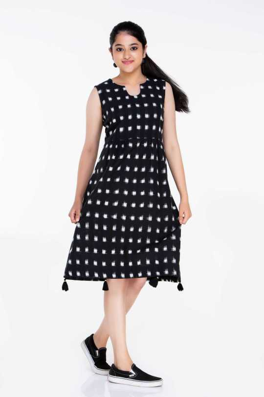 Black and White Ikat Dress