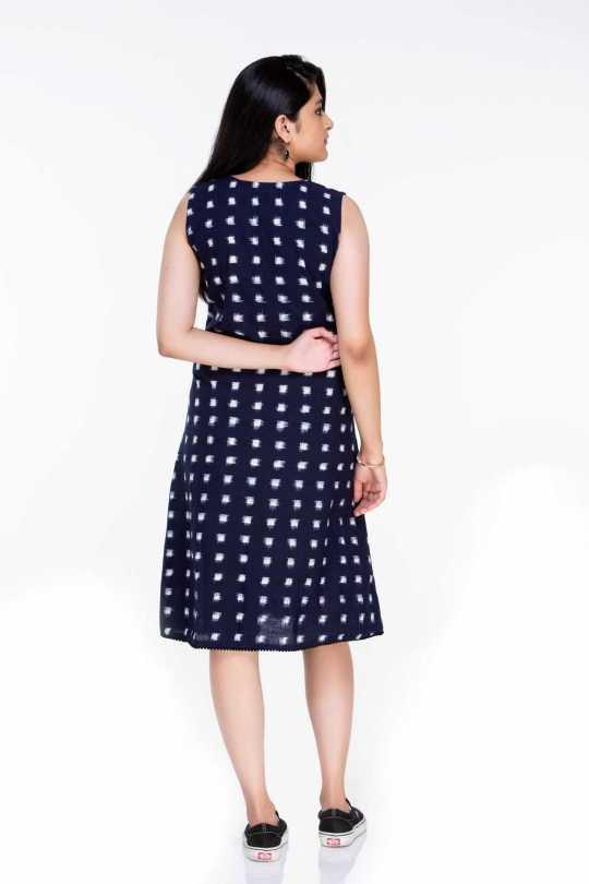 Double Ikat Knee Length Dress