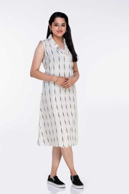 White Ikat Dress