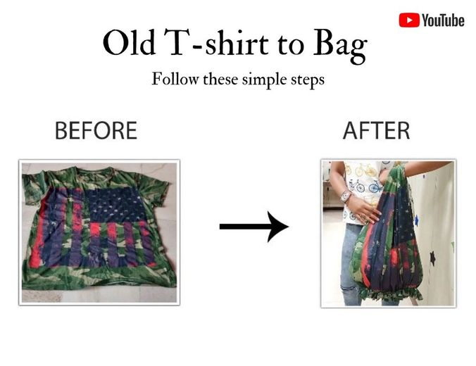 OLD T-SHIRT TO BAG