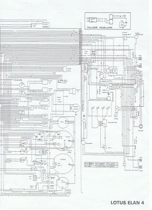 Wiring diagram for Lotus Elan Series 4