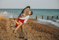 Lotus Photography UK 20200911 Dom & Rose Worthing Sussex Beach Engagement Photoshoot 39 WM