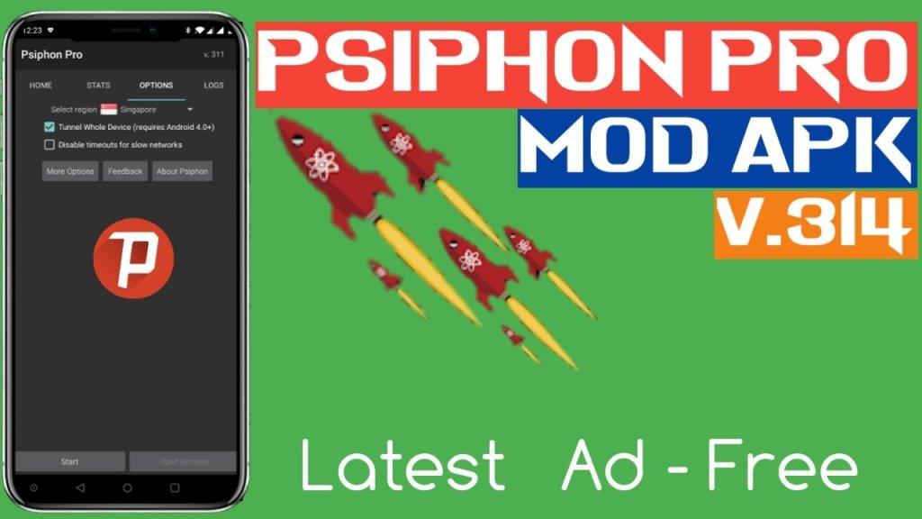 Psiphon Pro v314 Mod Apk Unlimited Internet Speed