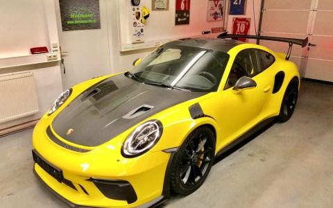 Porsche 991 GT3 RS Weissach yellow