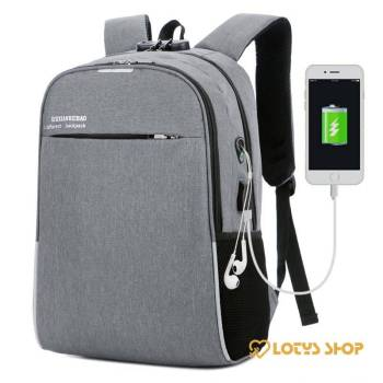 Waterproof Backpack with USB Charger Accessories Bags and Luggage Men's Bags and Luggage color: Black|Blue|Grey|Purple|Red