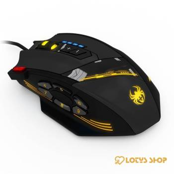 12-Buttons Programmable Wired Gaming Mouse Gaming & Entertainment color: Black