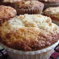 Raspberry Muffins with Buttery Streusel