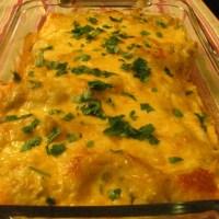 Cheesey Chicken Enchiladas and Poblano Chicken Enchiladas