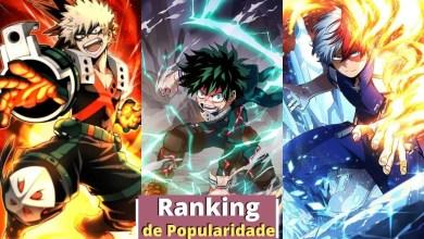 ranking popularidade my hero academia