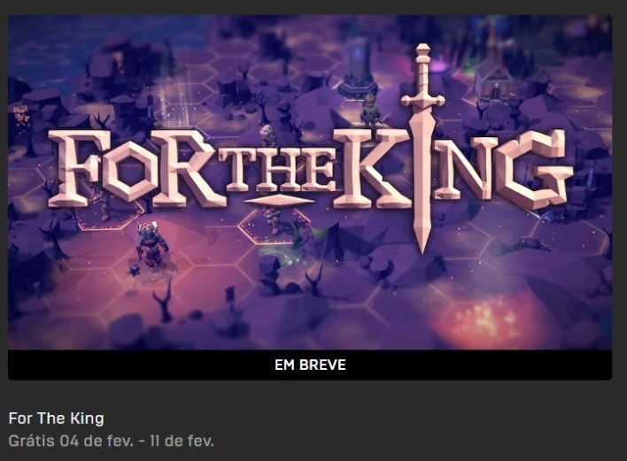 For The King Grátis na Epic Games Store