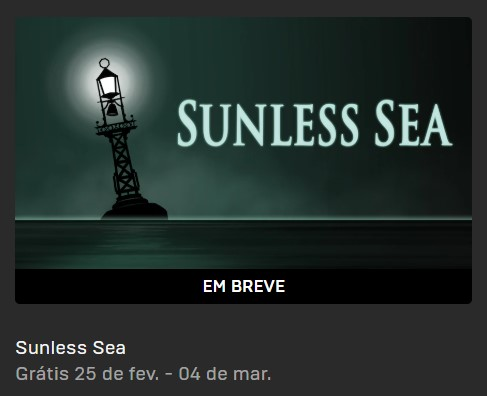 Sunless Sea Grátis na Epic Games Store