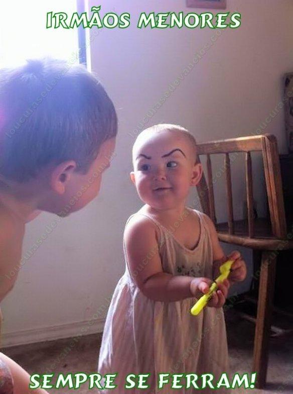 criança sobrancelha
