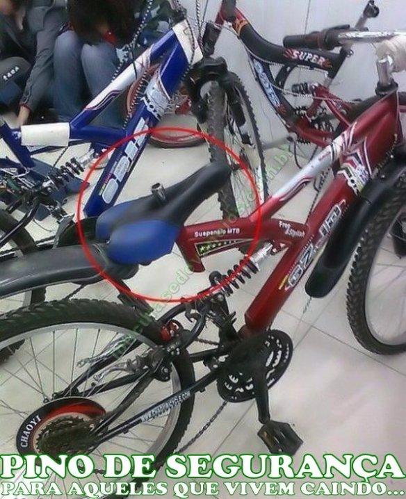 bicicleta com pino de segurança