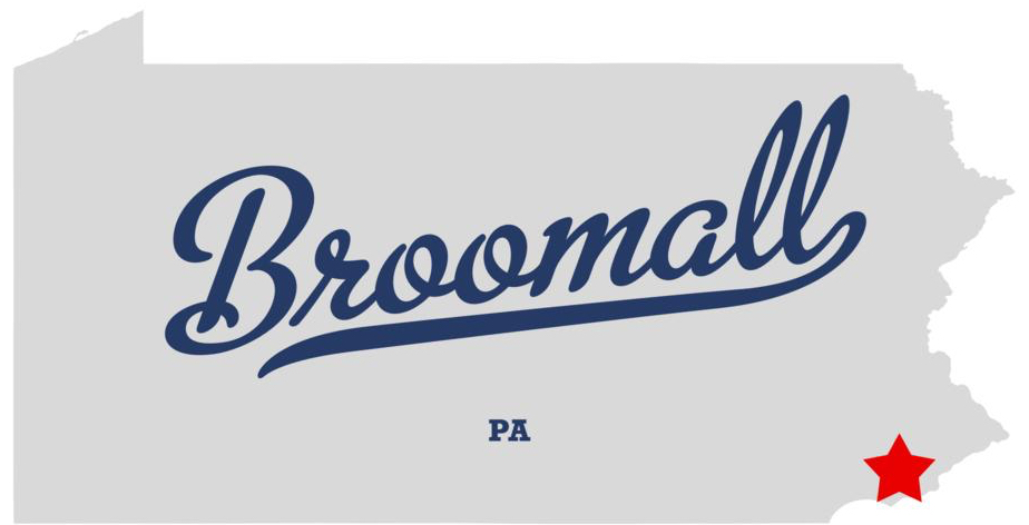 map of Broomall graphic