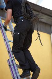 sweep climbing ladder