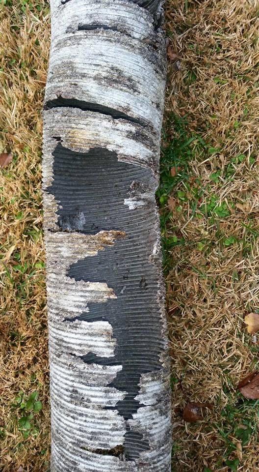 broken chimney liner