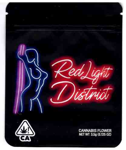 The Rare - Red Light District Mylar Bag (front)
