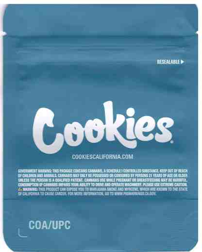 Cookies - Pomelo Mylar Bags (back)