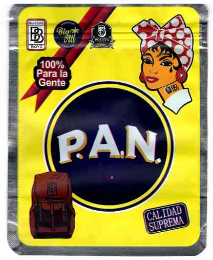 Backpack Boyz - P.A.N. Mylar Bags (front)