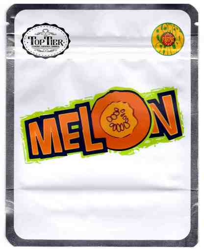 Top Tier - Melon Mylar Bags & Labels (front)