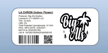 Big Al's - La Chron (barcode label)
