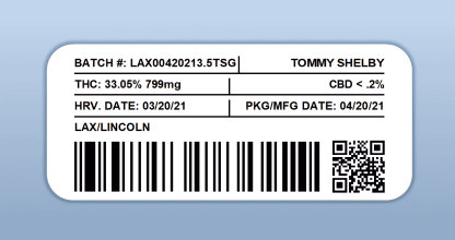 LAX - Tommy Shelby Green (barcode label)