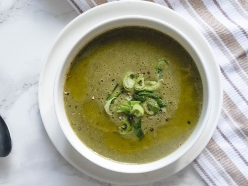 Cannabis infused creme of zucchini soup