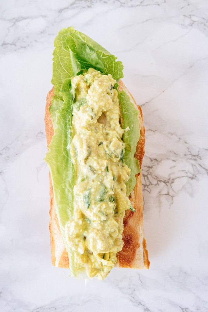 Perfectly satisfying vegan egg salad