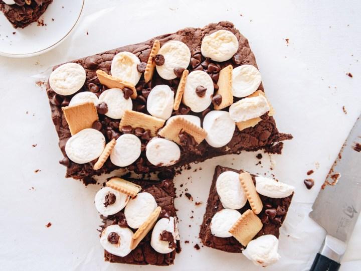 smore vegan pot brownie featured