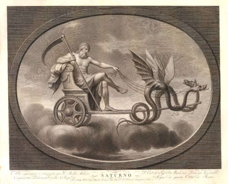 Image result for saturn god with chariot