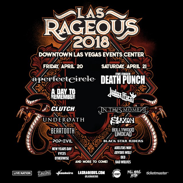 A Day To Remember Added To LAS RAGEOUS; April 20 & 21 in Downtown Las Vegas