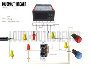 DIY STC1000 2Stage Temperature Controller Wiring Diagram