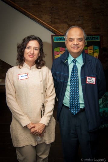 BRIDGES Vice-President Catherine Motivans and former board member Syed Alam