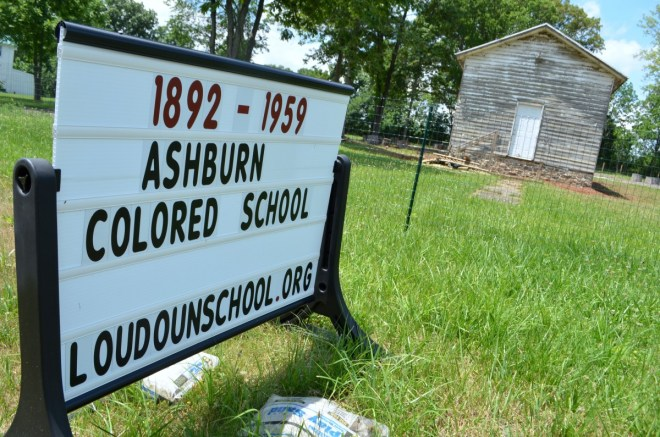The Ashburn Colored School was once the hub of the local black community. (Danielle Nadler/Loudoun Now)